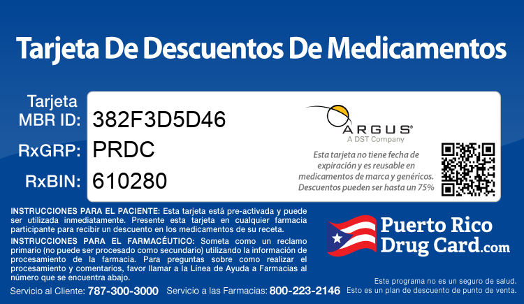 Puerto Rico Drug Card - Free Prescription Drug Coupon Card